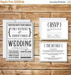 Printable Wedding Invitation RSVP & Details Card by birDIYdesign