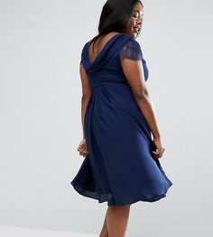 Asos Kate Lace Cowl Back Midi Dress