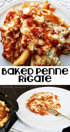 Baked Penne Rigate a delicious and easy pasta dinner for your famly