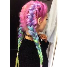 32 Pastel Hairstyles Ideas You'll Love ❤ liked on Polyvore featuring accessories, hair accessories, hair and hairstyles