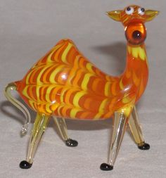Fitz Floyd Glass Menagerie Blown Glass Figurine Cool Camel The Glass Menagerie, Glass Figurines, Hand Blown Glass, Camels, Crystals, Bing Images, Outdoor Decor, Ebay, Home Decor