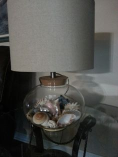 1000 Images About Make My Own Seashell Lamp On Pinterest