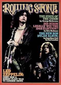 Led Zeppelin - Rolling Stone Cover - March 1975 - Mini Print
