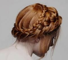 Coiffure : Wedding Hairstyles to Complement Your Wedding Dress… African Braids Hairstyles, Down Hairstyles, Pretty Hairstyles, Braided Hairstyles, Braided Updo, Braided Crown, Milkmaid Braid, Crown Braids, Updo Hairstyle
