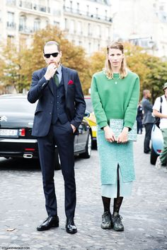 could they be any cooler!? #JustinOShea & #VeronikaHeilbrunner in Paris.