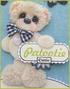 CUTIE-PATOOTIE-Tear-Bear-for-Scrapbook-Premade-Pages-Paper-Piecing-LAPULENTA