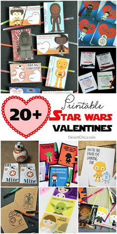 Don't miss these awesome and free printable Star Wars valentines. Perfect for little jedis to give to their friends at school! via @DesertChica