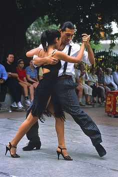 Don't look just feel when you dance the Argentine Tango.