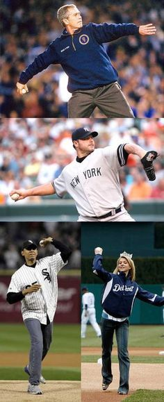Some presidents throw like real men, some can't and throw like a princess....