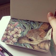 Imagen de art, drawing, and flowers