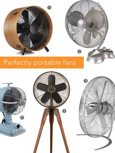 Perfectly portable fans