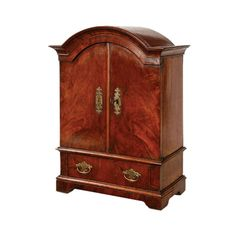 Queen Anne walnut miniature linen press | From a unique collection of antique and modern linen presses at https://www.1stdibs.com/furniture/storage-case-pieces/linen-presses/