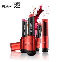 Gratis Pengiriman Merek Flamingo Food Grade Sehat Pelembab Halus Tahan Air 6 Mode Warna Tahan Lama Matte Lipstik 41004 s