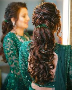 Open Hairstyles For Gowns Indian _ Gowns Hairstyles Indian open hairstyles for gowns indian # Hairstyles For Gowns, Open Hairstyles, Ponytail Hairstyles, Bride Hairstyles, Simple Hairstyles, Hairstyle With Gown, Hairstyles With Lehenga, Gorgeous Hairstyles, Hairstyles Videos