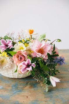 Spring arrangement: http://www.stylemepretty.com/living/2015/05/09/17-fabulous-diy-flower-arrangements/