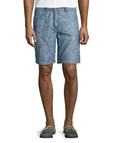 Geo-Print Swim Trunks, Blue/Black   *Neiman Marcus*   Pinterest   Swim trunks, Moncler and Geo