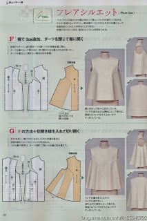 Japanese sewing pattern instructions: I've made the pattern and sewn a toile, it… Japanese Sewing Patterns, Dress Sewing Patterns, Clothing Patterns, Sewing Hacks, Sewing Tutorials, Sewing Projects, Techniques Couture, Sewing Techniques, Pattern Cutting
