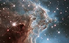 Image::Image: A churning region of star birth in NGC also known as the Monkey Head Nebula, about 6400 light-years away in the constellation of Orion (The Hunter) is pictured in this handout infrared image mosaic from the NASA/ESA Hubble Space Telescope Eagle Nebula, Orion Nebula, Horsehead Nebula, Helix Nebula, Andromeda Galaxy, Hubble Images, Hubble Space Telescope, Telescope Images, Mystique