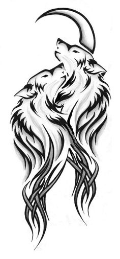 wolf tattoo design Etsy is part of Wolf Tattoo Etsy - Beautiful wolves Wolf Tattoo Design, Tattoo Design Drawings, Tattoo Wolf, Tribal Wolf Tattoos, Animal Tattoos, Tribal Drawings, Pencil Art Drawings, Art Sketches, Kunst Tattoos