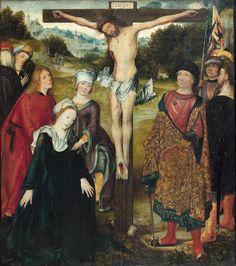 Maître de Francfort (né vers 1460, actif à Anvers entre 1496 et 1520), La Crucifixion, huile sur panneau de chêne, 83 x 71,5 cm. Estimation : 150 000/200 000 €