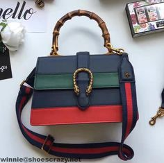 5be9a39f318 Gucci Dionysus Leather Bamboo Top Handle Bag 448075 2016