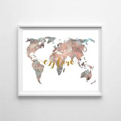 World map watercolor world map world map printable explore