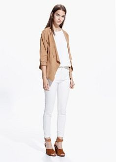 Oversize pocket blouse - Blouses and shirts for Women | MANGO