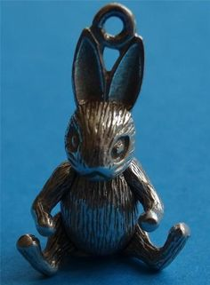 Vintage Silver Charm Rabbit Articulated - 16 gbp