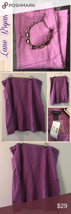 Plus➕ Lane Bryant Lavender Skirt Beautiful skirt in purple. Zipper in the back. All year Color and material. Great add to your closet! ‼️Bundle & Save ‼️ Lane Bryant Skirts Midi