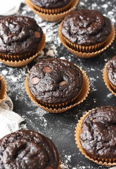 Healthy Chocolate Banana Flax Muffins | The Butter Half
