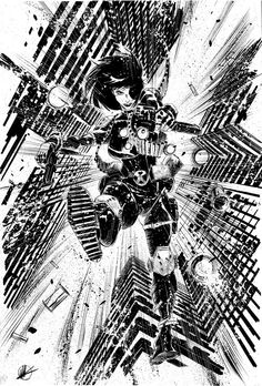 Striking Black & White Superhero Sketches by Matteo Scalera
