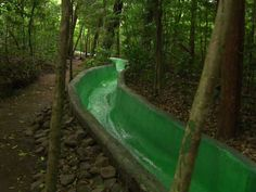 Extreme Mountain Water Slide Costa Rica's Buena Vista Lodge offers extreme fun in a tropical setting.