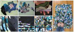 Tapete con calcetines o ropa reciclada: