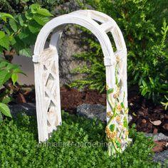 Miniature Gardening - English Rose Arbor > $6.99  #miniaturegardening #fairygarden #planningaminiaturegarden