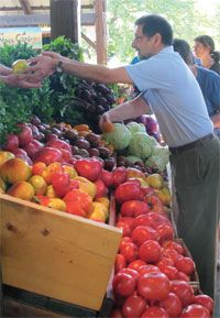 opening day at the Ithaca Farmers Market!