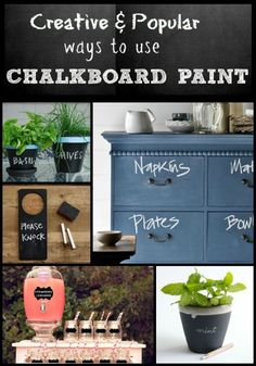 Popular & Creative Chalkboard Paint Ideas