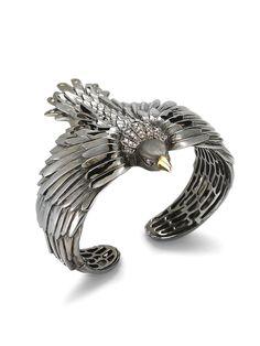 Elizabeth and James Meadowlark Bird Cuff Bracelet Bird Jewelry, Fall Jewelry, Animal Jewelry, Jewelry Box, Jewelery, Silver Jewelry, Jewelry Accessories, Jewelry Design, James Jewelry