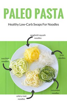 Super food paleo pasta is healthy, easy to make, and delicious too! All of the vegetable noodles listed are real foods and Whole30 compliant.