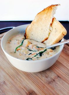 My favorite soup! ... I'm gonna have to try this! Olive Garden Chicken Gnocchi Soup