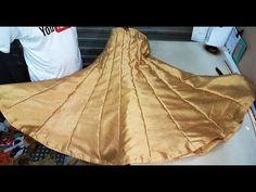 Umbrella Skirt ,अम्ब्रेला स्कर्ट , Drafting, Cutting & Stitching in Hindi By Krishna Creation Kurti Designs Party Wear, Kurta Designs, Choli Designs, Lehenga Skirt, Anarkali Lehenga, Heavy Lehenga, Umbrella Skirt, Blouse Tutorial, Sewing Blouses