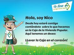 Conoce a Nico, un niño reasentado que desde hoy te contará todo sobre la CVP. También viene cargado de sorpresas!
