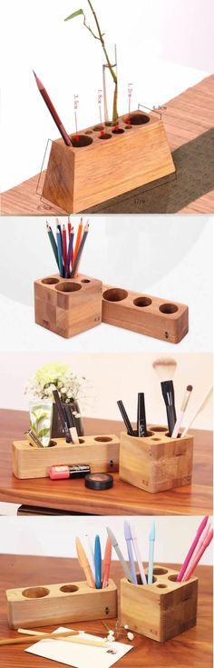 Creative DIY Desk Organizer Ideas to Make Your Desk Cute!--Pen Pencil Holder Stand Office Desk Organizer Vase Flower Pot