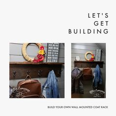 Build Your Own Wall Mounted Coat Rack | Netties Expressions Blog