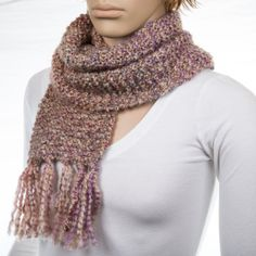 Pink Scarf by NadiasKnits on Etsy, $30.00