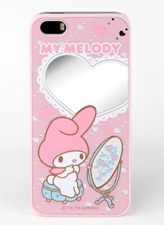Pretty mirrored phone cover starring a reflective #MyMelody