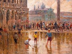 Zadeh (SA, born 1953) Oil, European Street Scene,