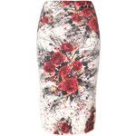 Prada floral knitted pencil skirt