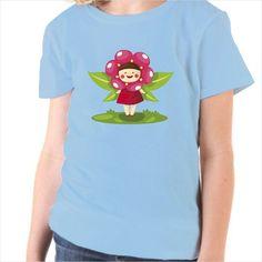 Camiseta infantil hada flor