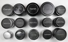 Radioactive lenses -- group shot by s58y, via Flickr