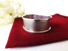 Vintage 1940 Napkin Ring Sterling Silver by CuriosAnCollectibles